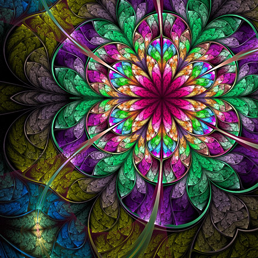 Fractal Stained Glass Window