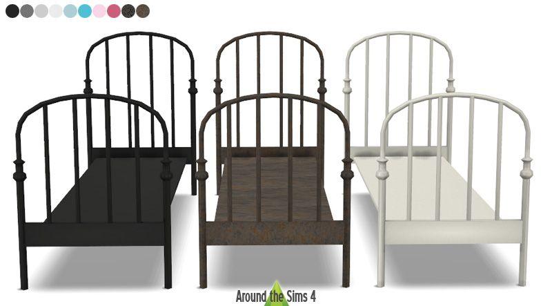 ikea lillesand bed the sims 4 cc pinterest. Black Bedroom Furniture Sets. Home Design Ideas