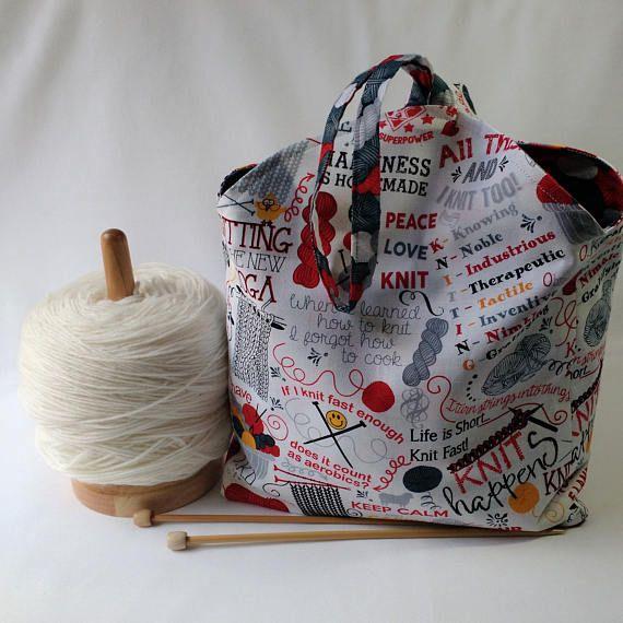 Knitting Project Bag Crochet Amigurumi Wip Tulip Bag