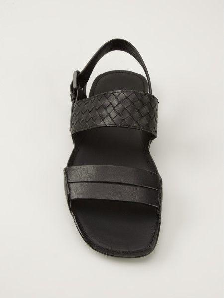 46c137f99105 bottega-veneta-black-intrecciato-sandal-men