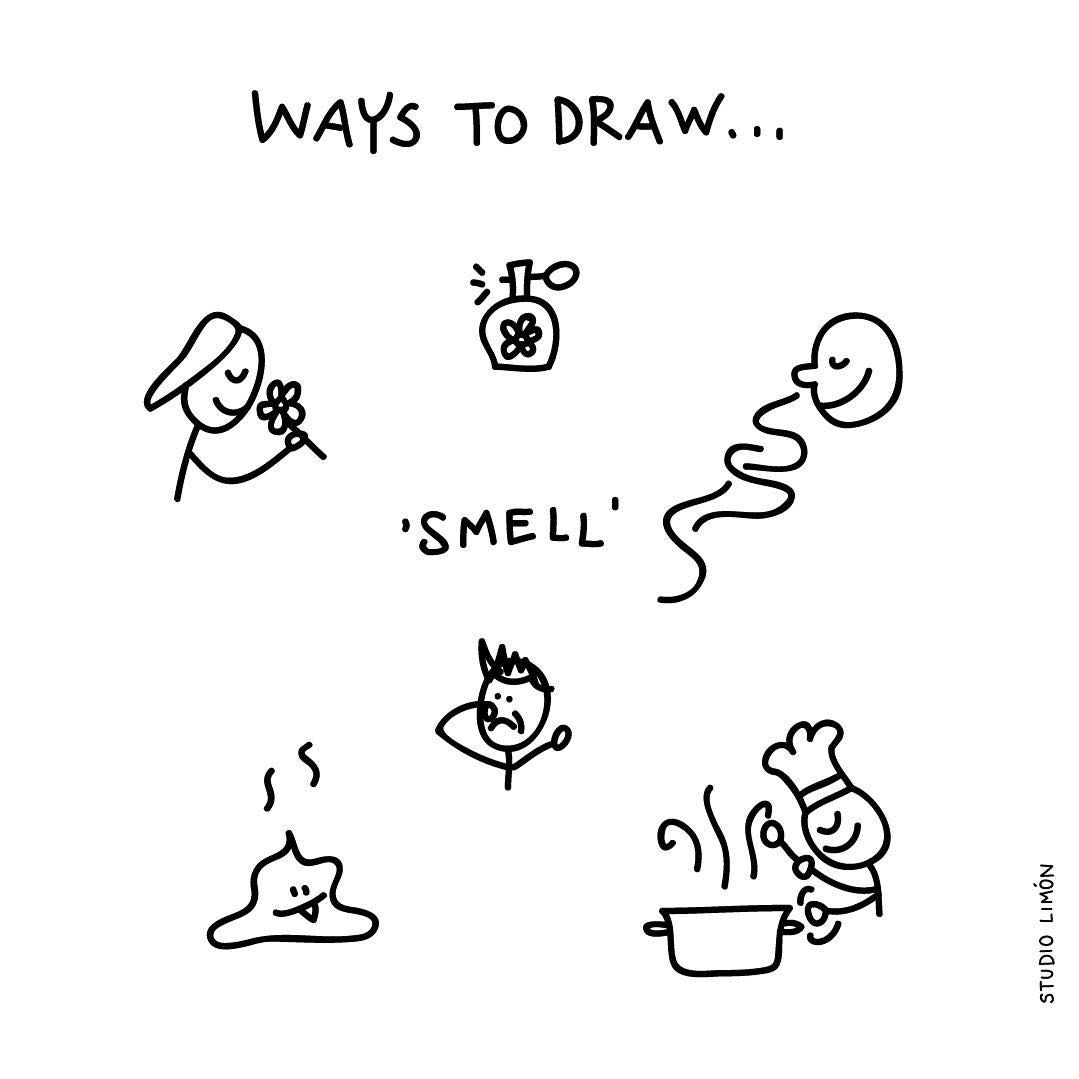 What S That Smell This Week We Draw The 5 Senses Word