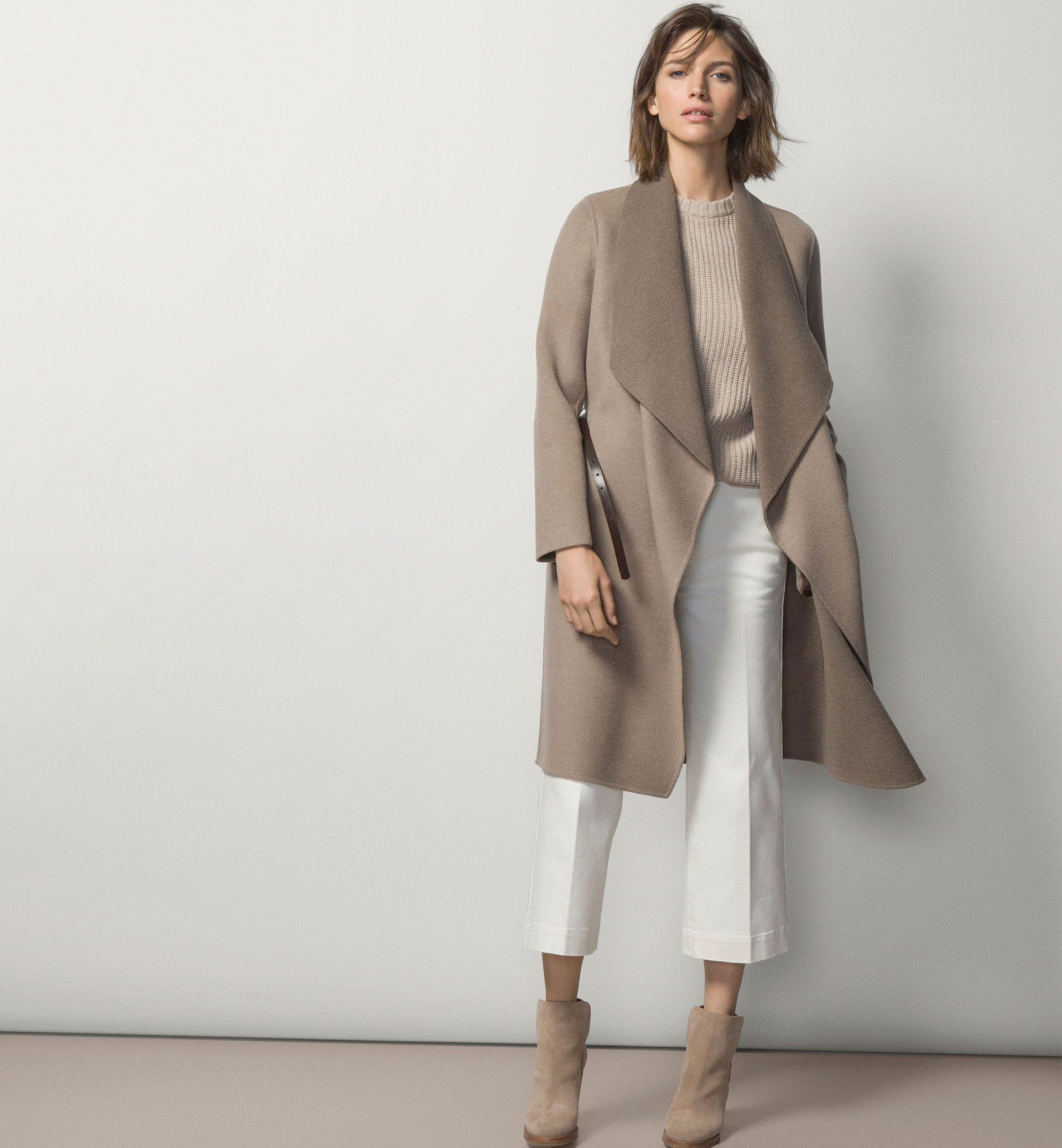 LONG TWO-TONE COAT - Coats - WOMEN - United States - Massimo Dutti