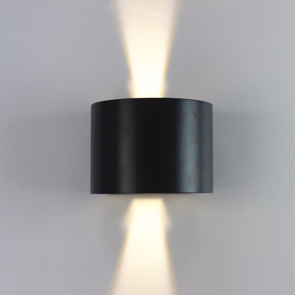 pieceslot round wall lamps cm black aluminum up down