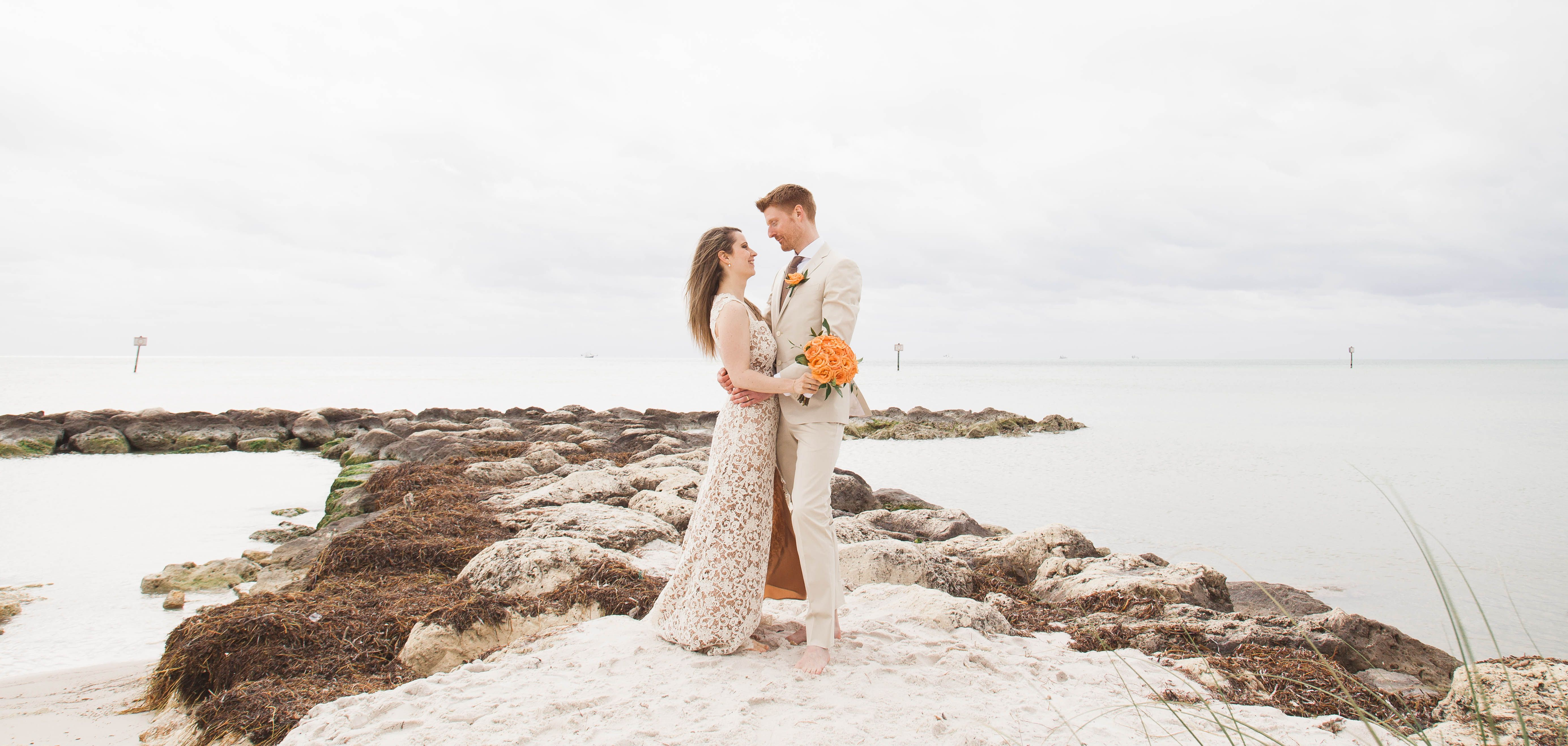 Intimate Elopement at Smathers Beach on Borrowed
