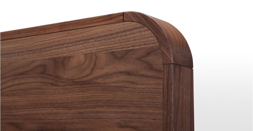 Fonteyn kingsize bed 160 x 200cm, walnoot   made.com