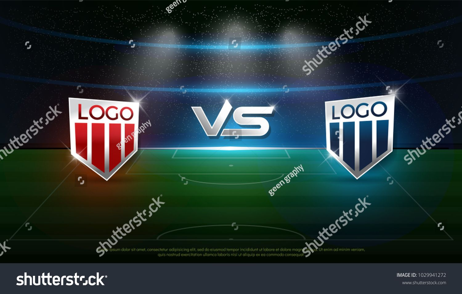Soccer Scoreboard Stadium Background Team A Vs Team B Strategy Broadcast Graphic Template Football Score For Web Poster Ba Scoreboard Stadium Football Score