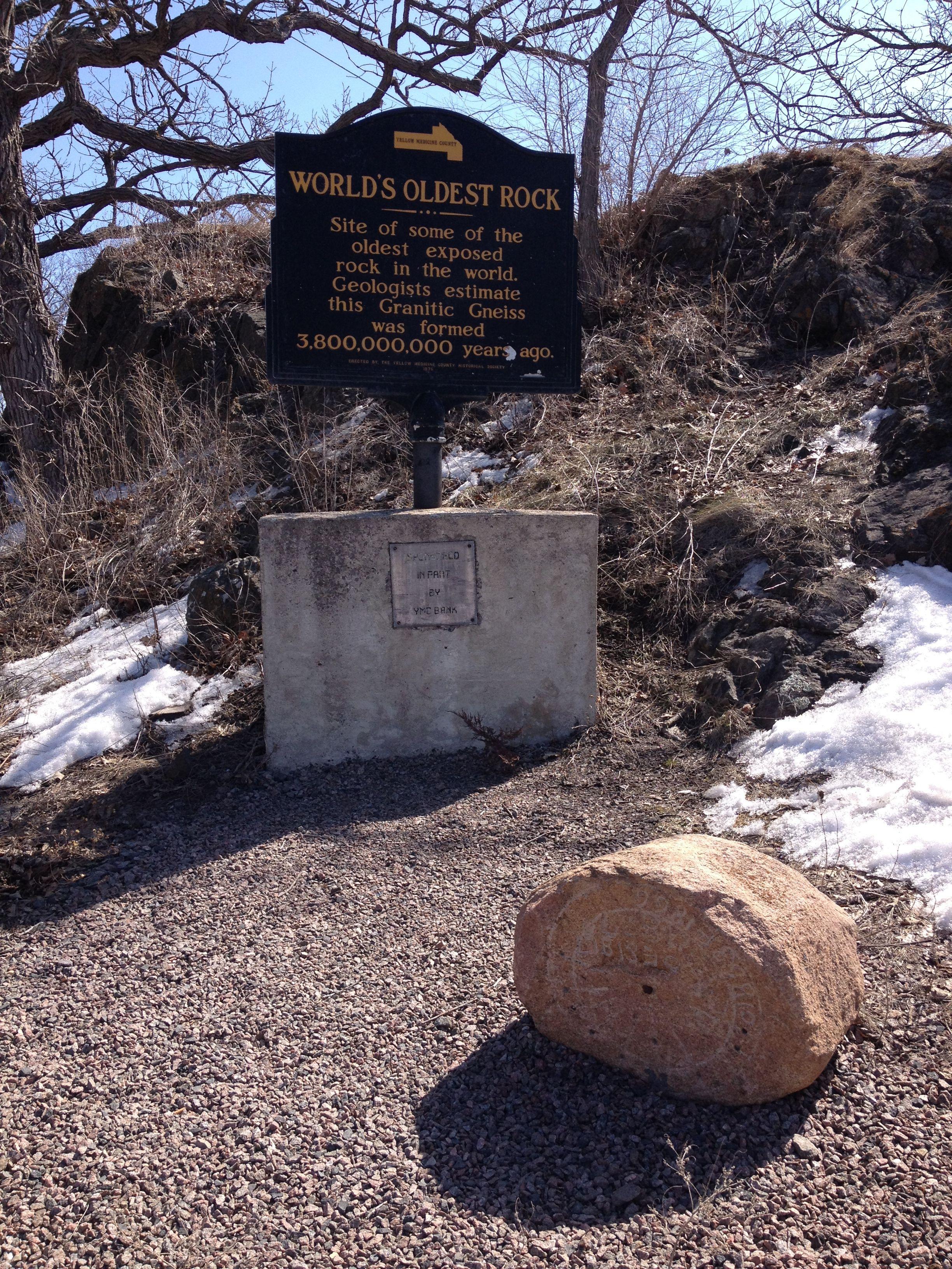 World S Oldest Rock Or Should I Say Rocks Granite Falls Granite Falls Road Trip Old Rock