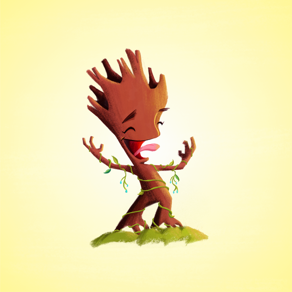 Baby Groot by Rogie King