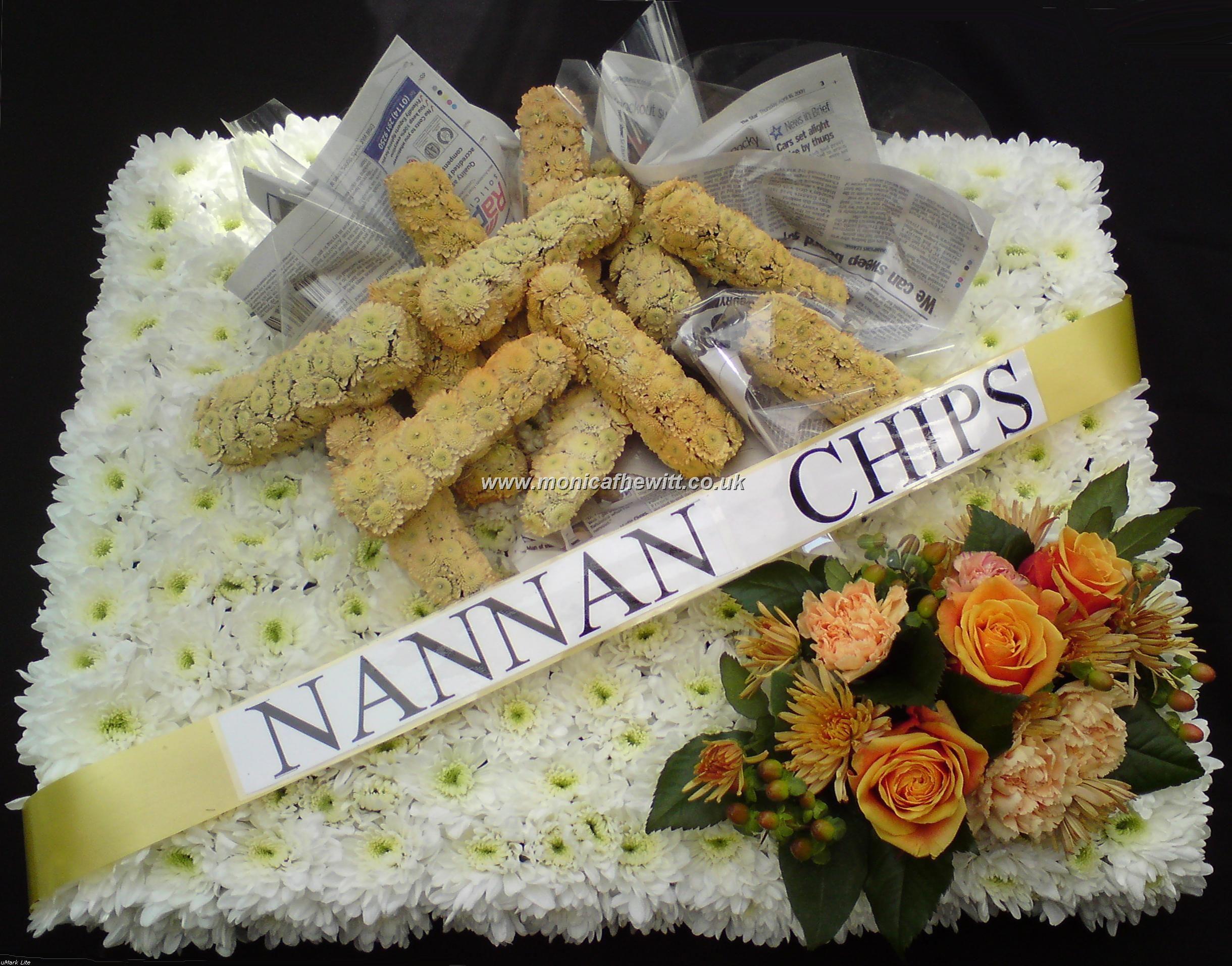 Chips funeral flowers monica f hewitt florist sheffield bespoke chips funeral flowers monica f hewitt florist sheffield izmirmasajfo