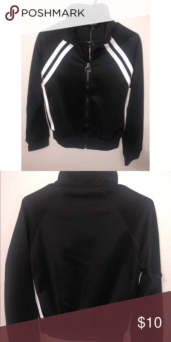 37d6730dea Full Zip Jacket Black Full Zip Sports Jacket with white stripes on chest  area, NEW with TAG, can post more pictures if asked Jackets & Coats