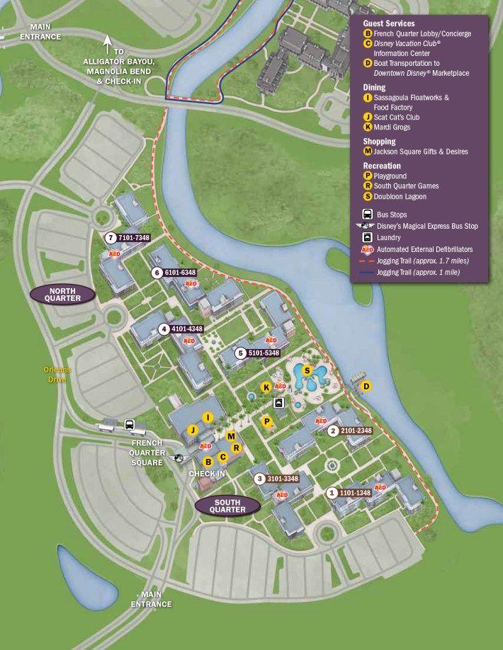 Port Orleans French Quarter Resort Map | disney world trip | Disney ...