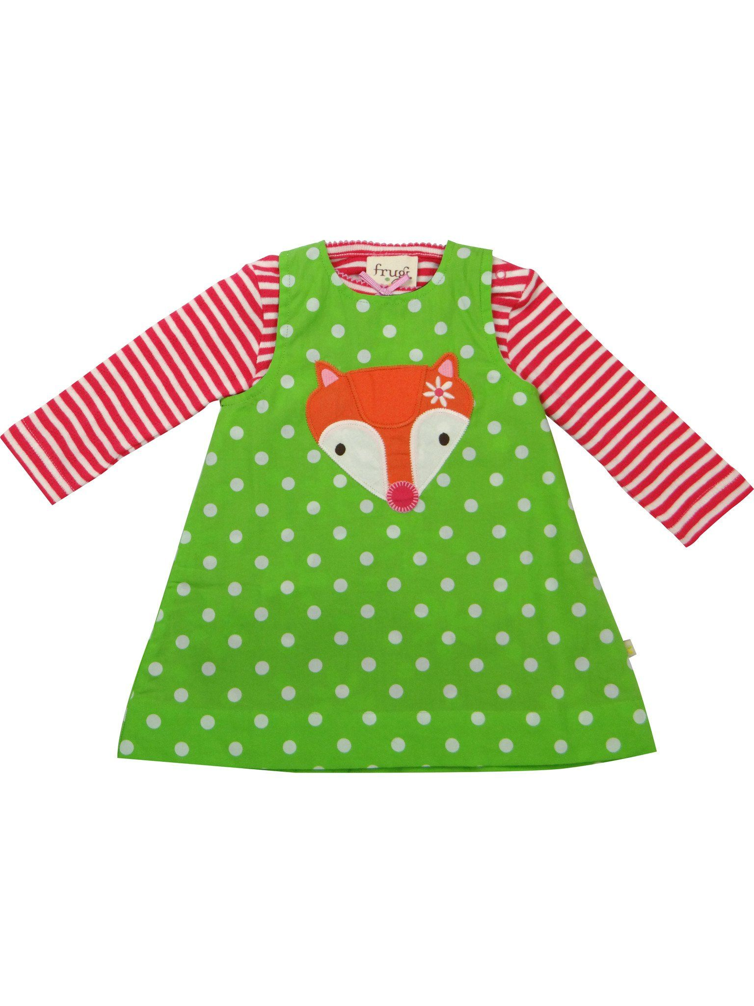 ... Baby Gift Works. Stripy Fox (2 dresses in 1) - Frugi Organic Cotton -  Reversible Dress and efaebb60c973