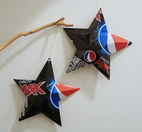 Pepsi Max  Stars Christmas Ornaments Soda Can by LizardSkins, $12.00