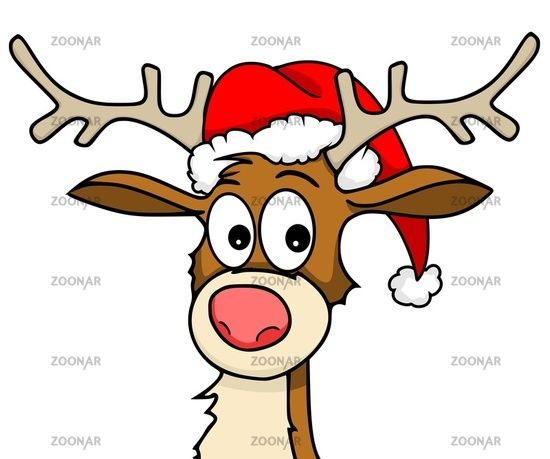 rentier mit weihnachtsm tze bild 1832913 weihnachten. Black Bedroom Furniture Sets. Home Design Ideas