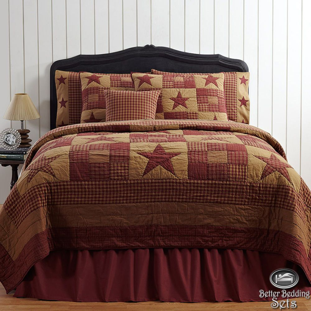 Details About Country Rustic Western Star Twin Queen Cal King Quilt Bedding Set Amp Accessories