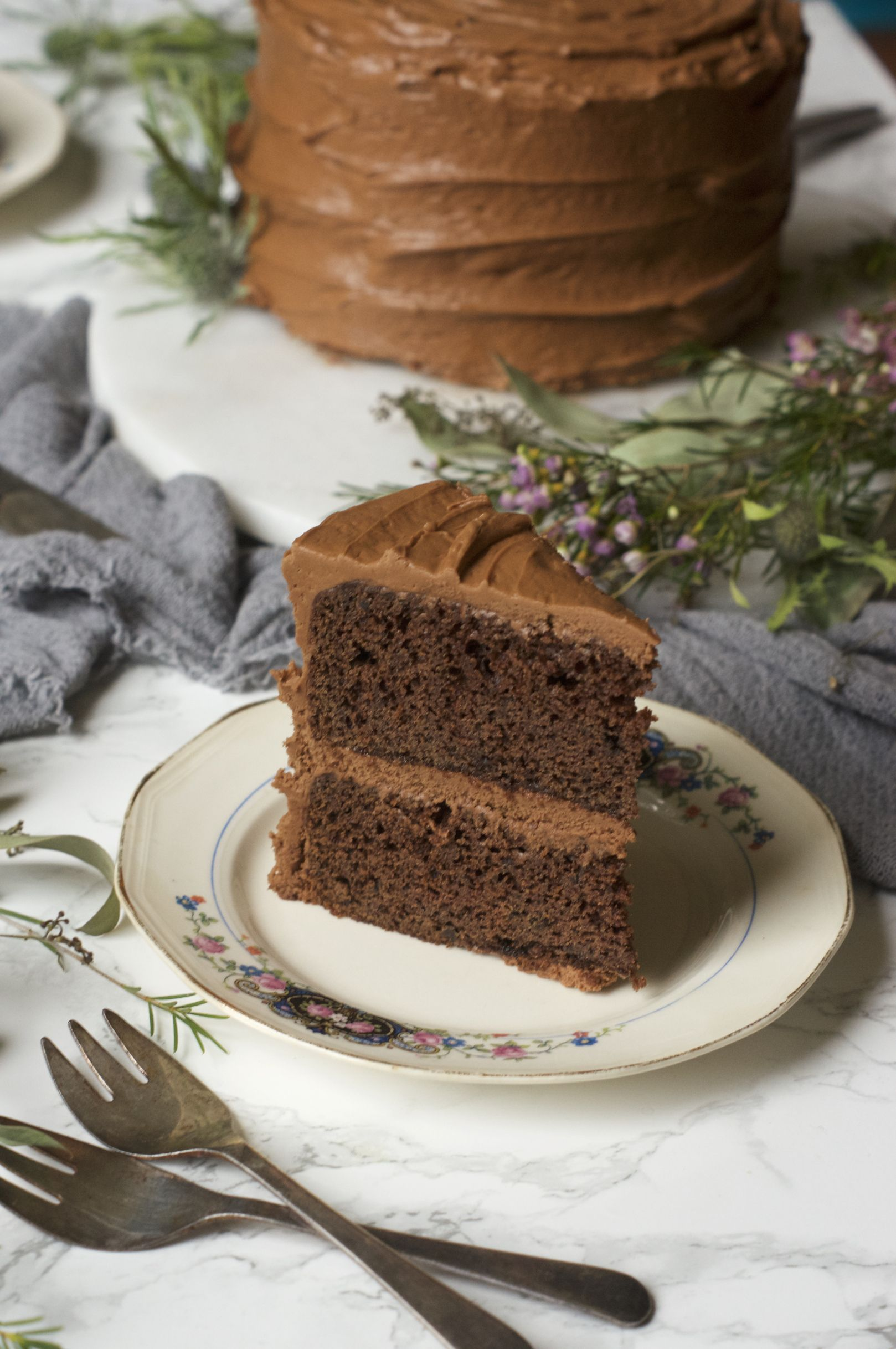 Chocolate cake for one or two tastes homemade cakes