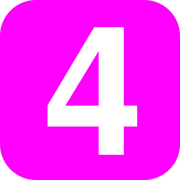 number 4 pink pink pinterest number and clip art rh pinterest com au 4 clipart png 4 clipart free
