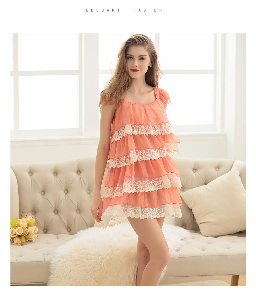 e6fb9f6b47ab YummyDreams 2017 Pijama Lace Nightgown Women Sexy Spaghetti Strap Lingerie  Dress Leopard print Sleepwear One word led Nightdress