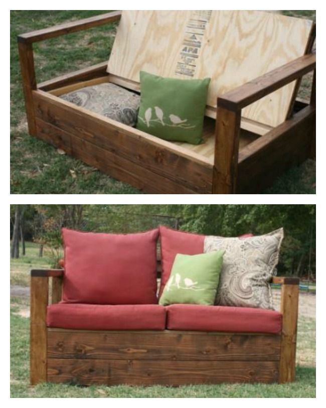 Ana White Simple Outdoor Loveseat With Storage Diy Projects