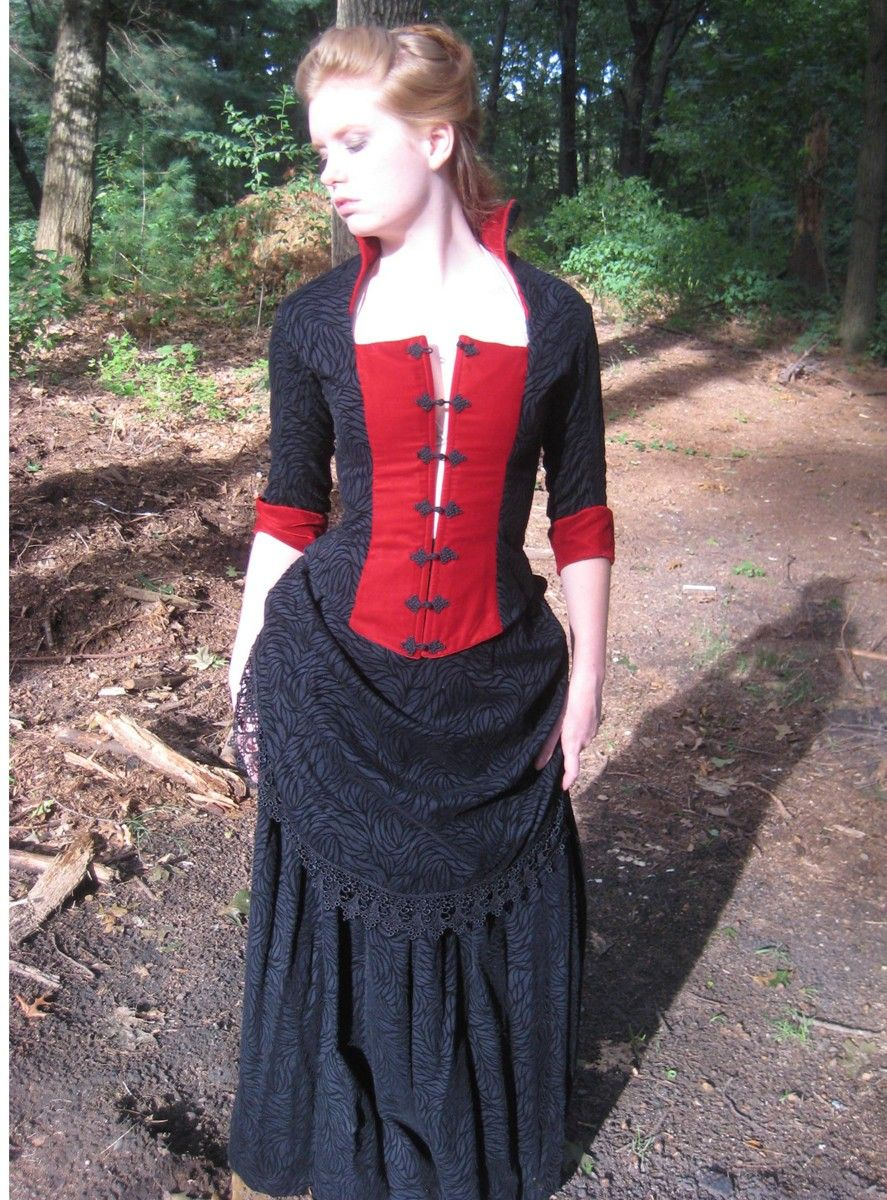 Victorian bustle dressd velvet and black two piece my type of