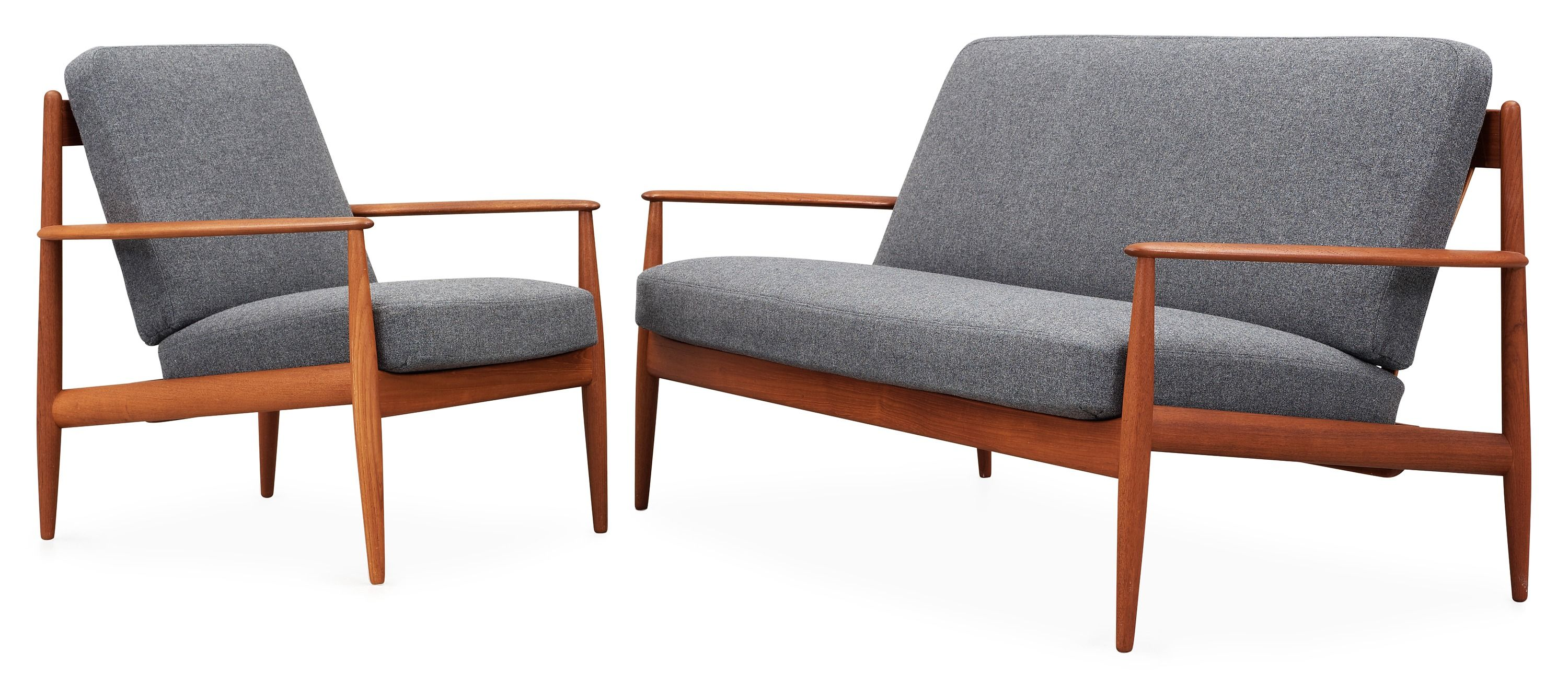Grete Jalk sofa and easy chair by France & Son, Denmark ...