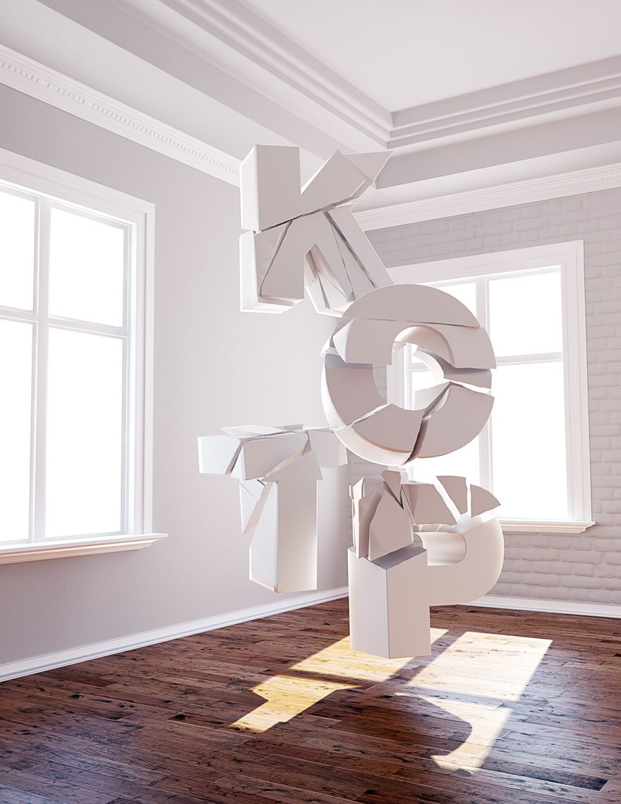 Shattered - 3D Typography Design Modelling #3dtypography
