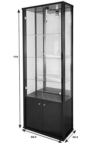 NEPTUN LOCKABLE DOUBLE RETAIL OR DOMESTIC USE GLASS DISPLAY CABINET ...