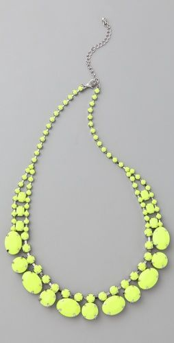 "Short Neon ""Stone"" Necklace"