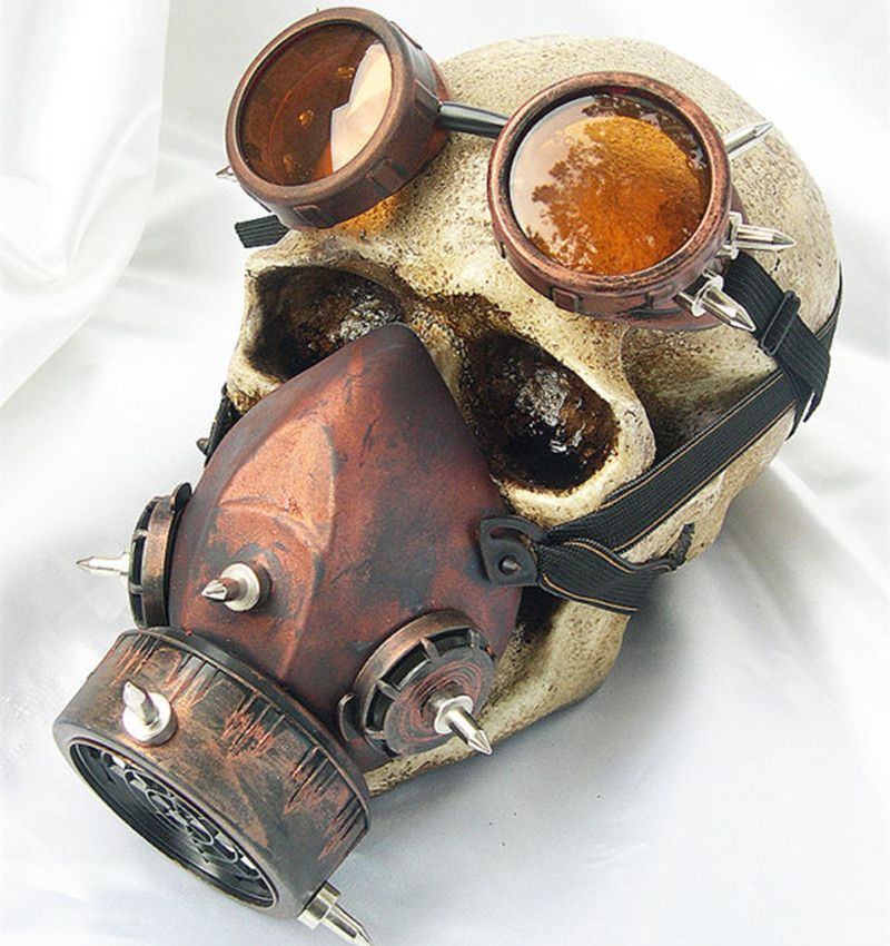 If you have to explain the steampunk gas mask to a non-steampunker, they'll just never understand. Never explain, never apologize. Simply don the steampunk gas mask and go into battle. Available in tw