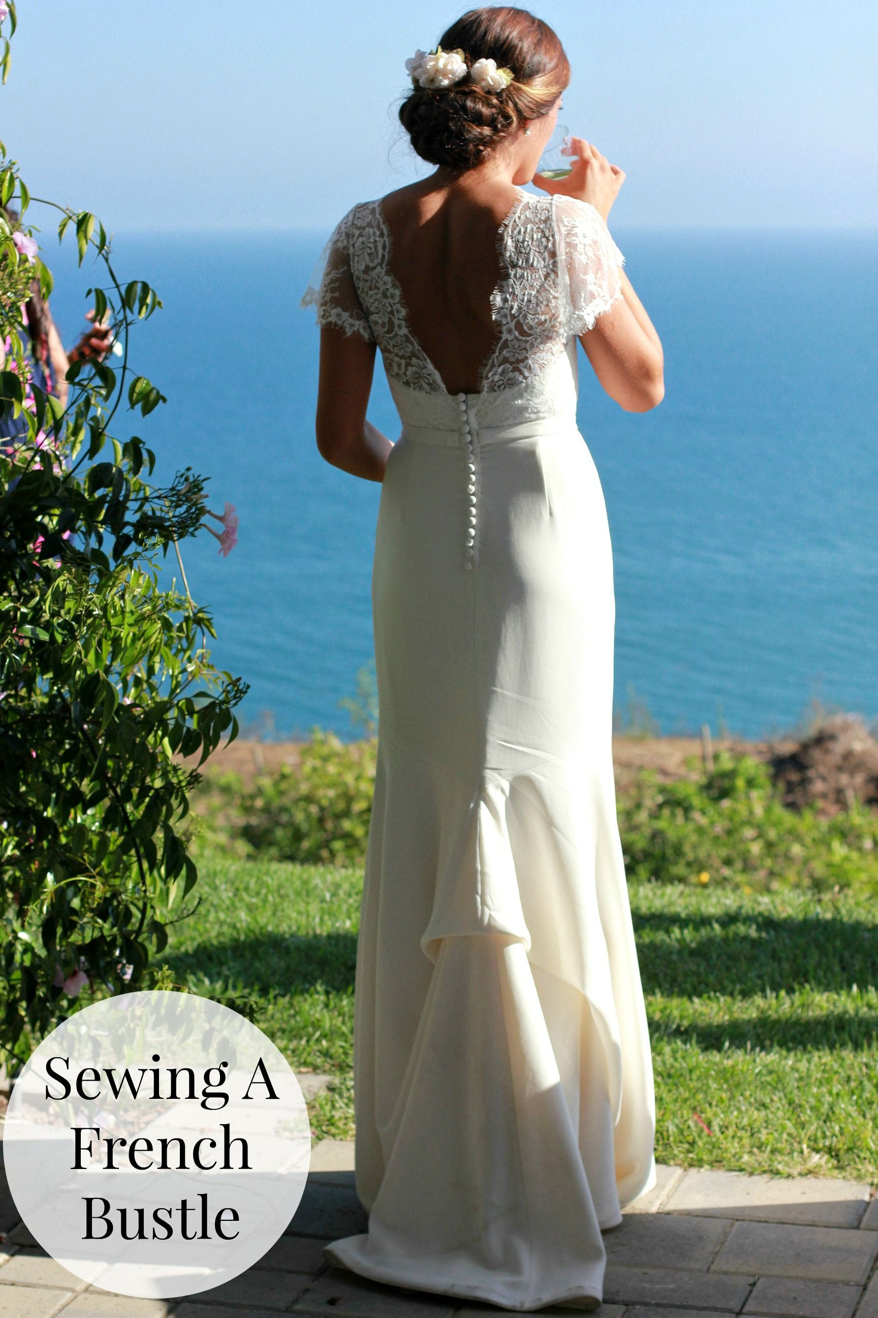 Sewing a French Bustle or Underbustle Wedding dress