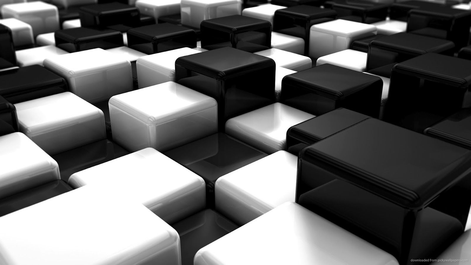 Black white 3d wallpaper wallpaper 3d abstracts for Black 3d wallpaper