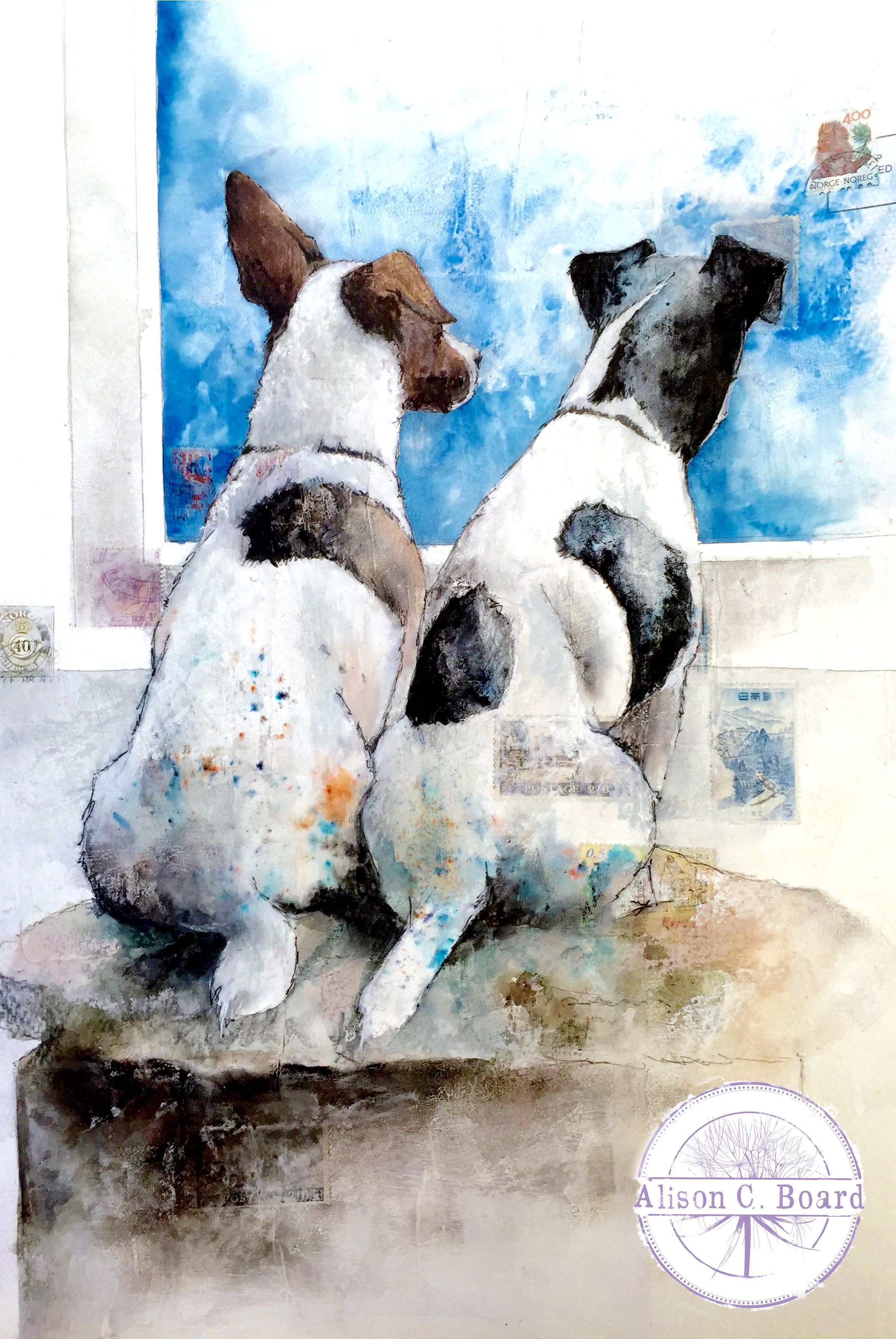 My Lovely Jack Russell Terriers In Their Usual Spot I Painted
