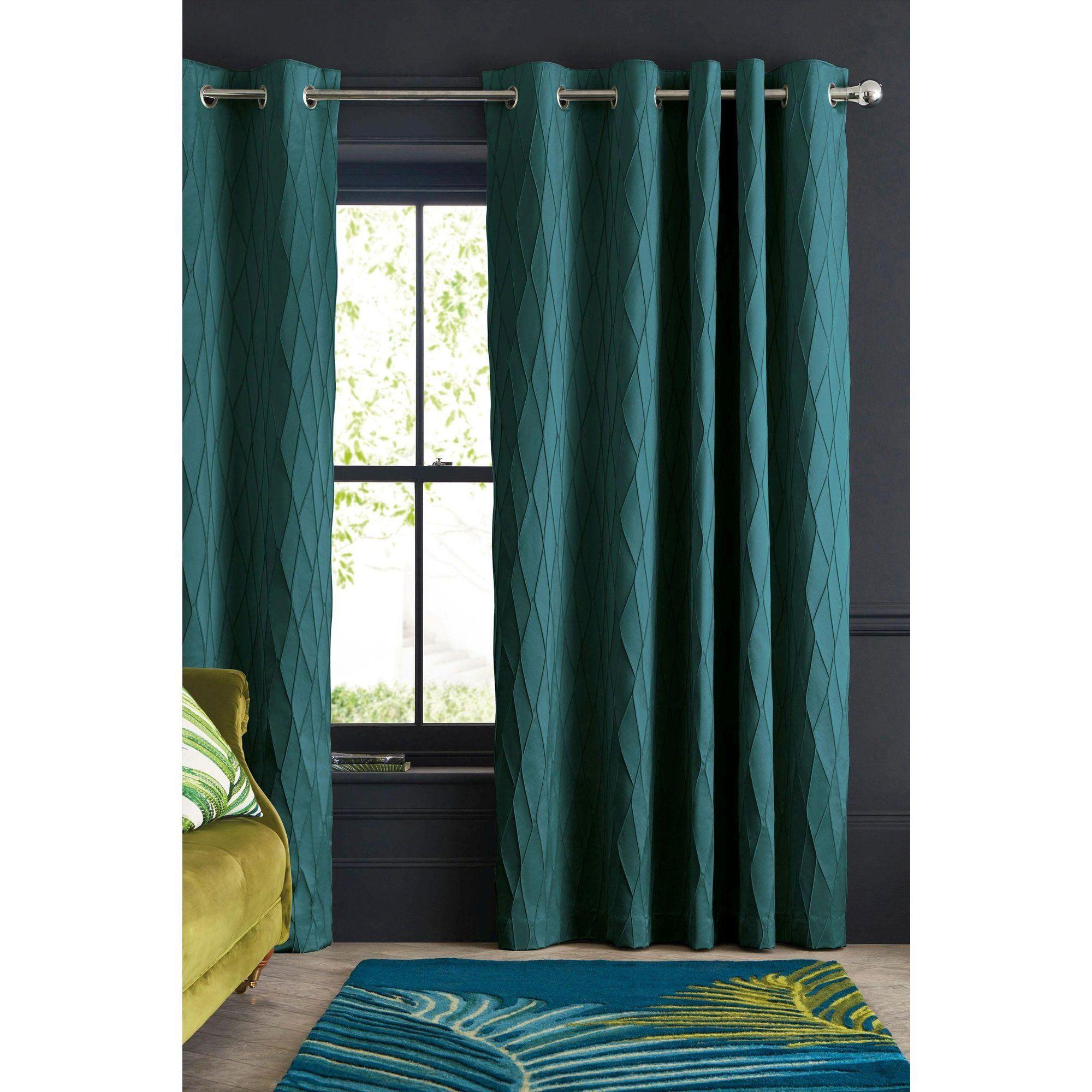 rideaux illets avec imprim g om trique en relief next rideau pinterest rideaux. Black Bedroom Furniture Sets. Home Design Ideas