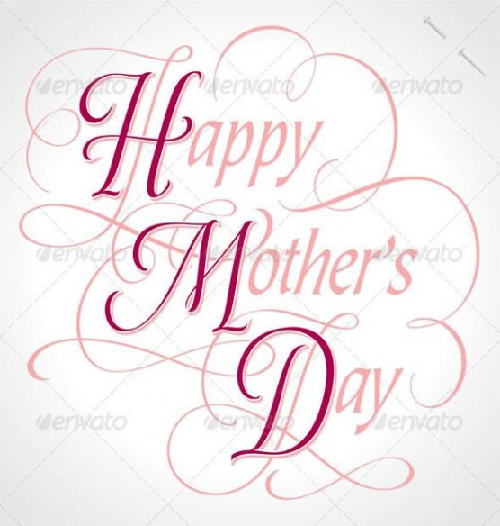 Happy Mothers Day Hand Lettering vector by Letterstock