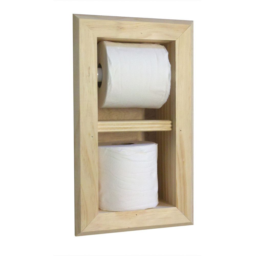 Wg Wood Products Recessed Toilet Paper And Spare Roll Holder Recessed Toilet Paper Holder Toilet Paper Toilet Paper Holder