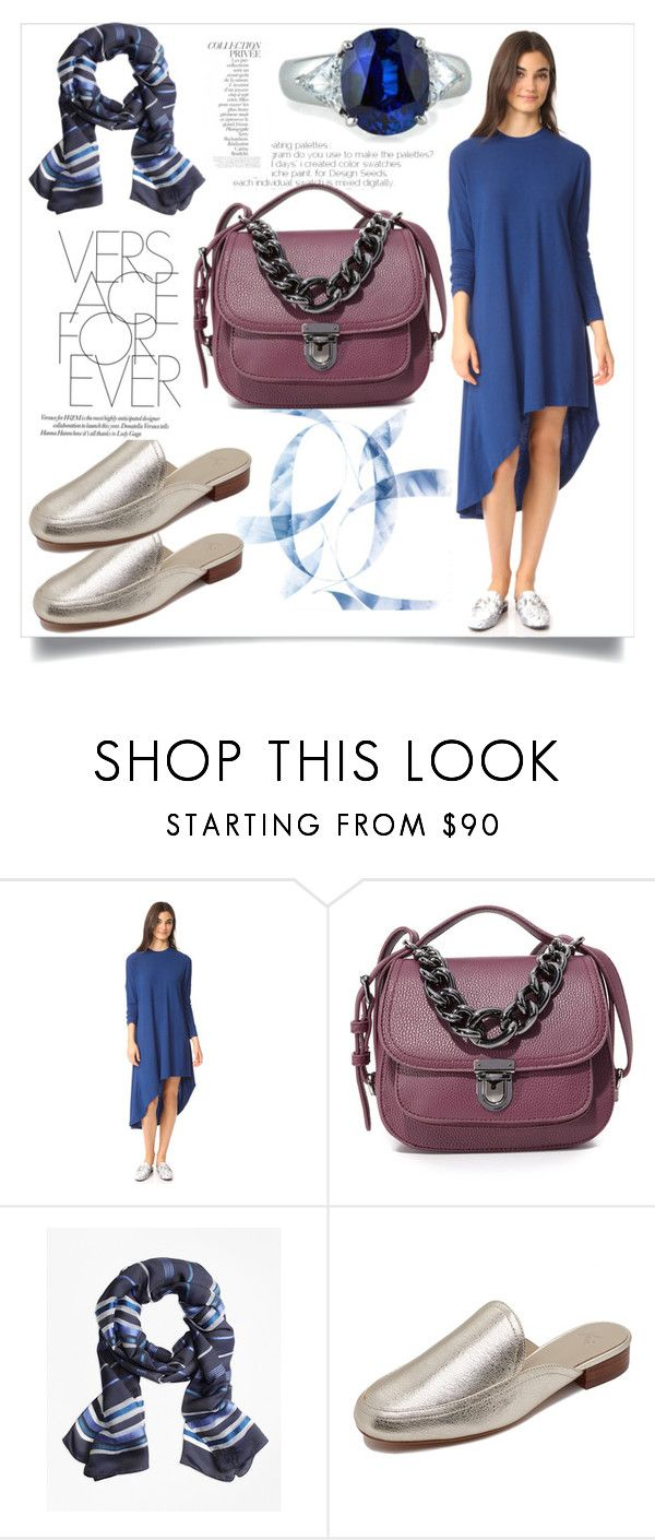 ef588e8c1a52 Asymmetric Dress In Blue..   by yagna on Polyvore featuring Joie ...