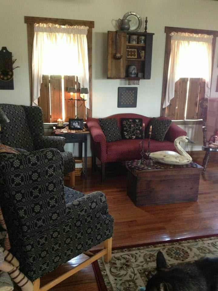 Pin By Joyce Reed On Primitive Living Rooms Pinterest Prim Decor Primitives And Living Rooms