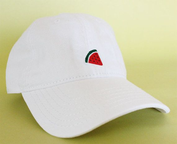 95808c381 NEW Watermelon Dad Hat Baseball Cap low profile 100 by BrainDazed ...