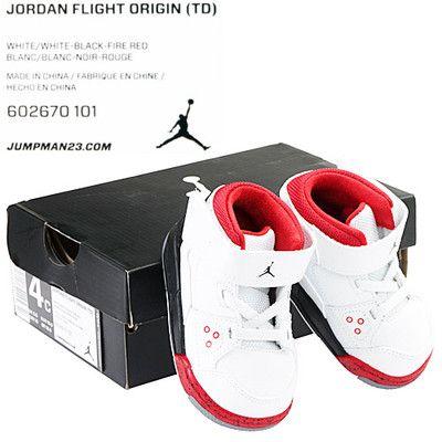 NIKE JORDAN FLIGHT ORIGIN (TD) TODDLER 602670-101 Baby Shoes Sneakers Size 4