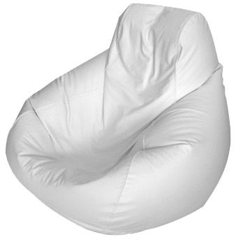 Large Teardrop Marine Bean Bag Solid White Quikship Bean Bag