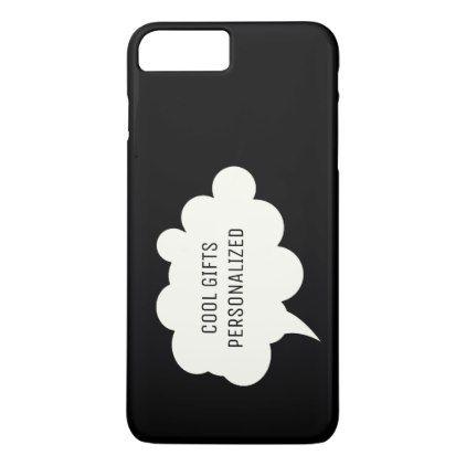 Thought Bubble Black Background IPhone 8 Plus 7 Case