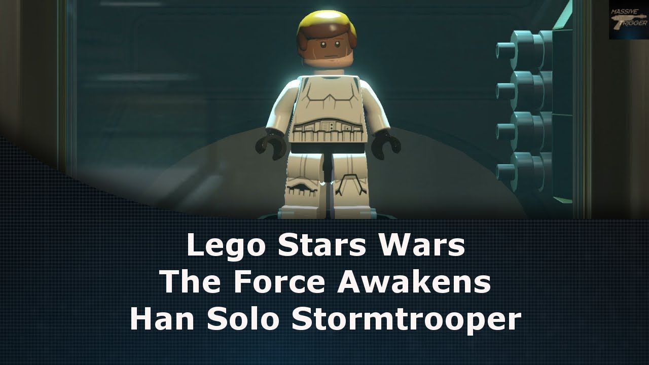 38852f522f Lego Star Wars The Force Awakens Han Solo Stormtrooper Unlock Location
