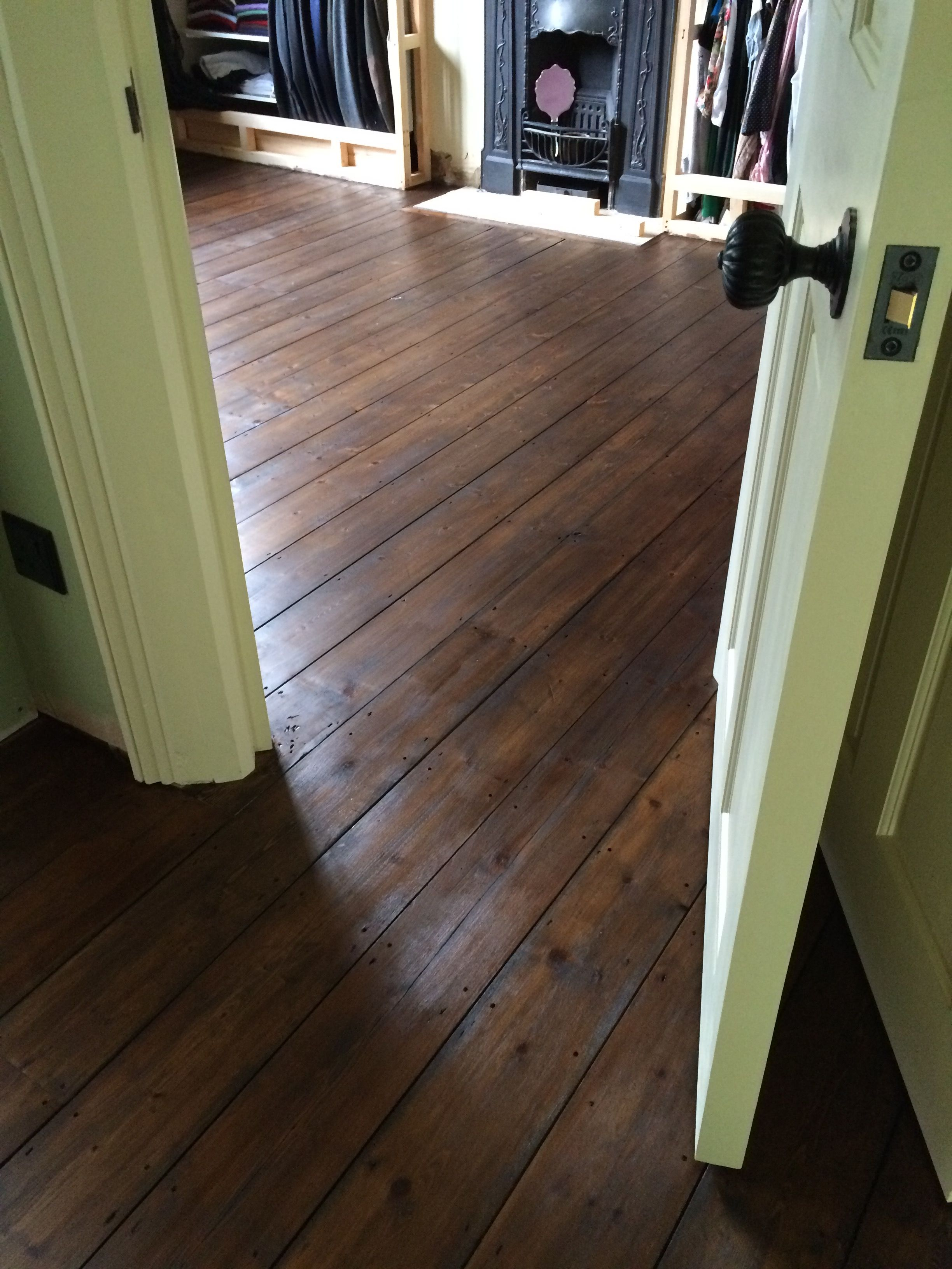 Floorboards Sanded And Stained Final Coat Of Hard Wax Oil To Do Flooring Hardwood Floors House Flooring