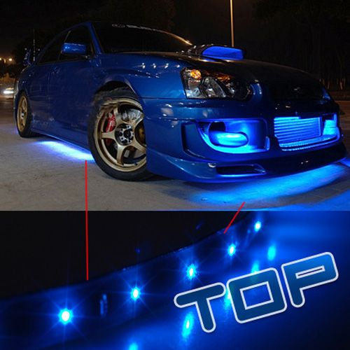 Flexible Led Strip Motocycle Car Lights 60 Leds Blue Car