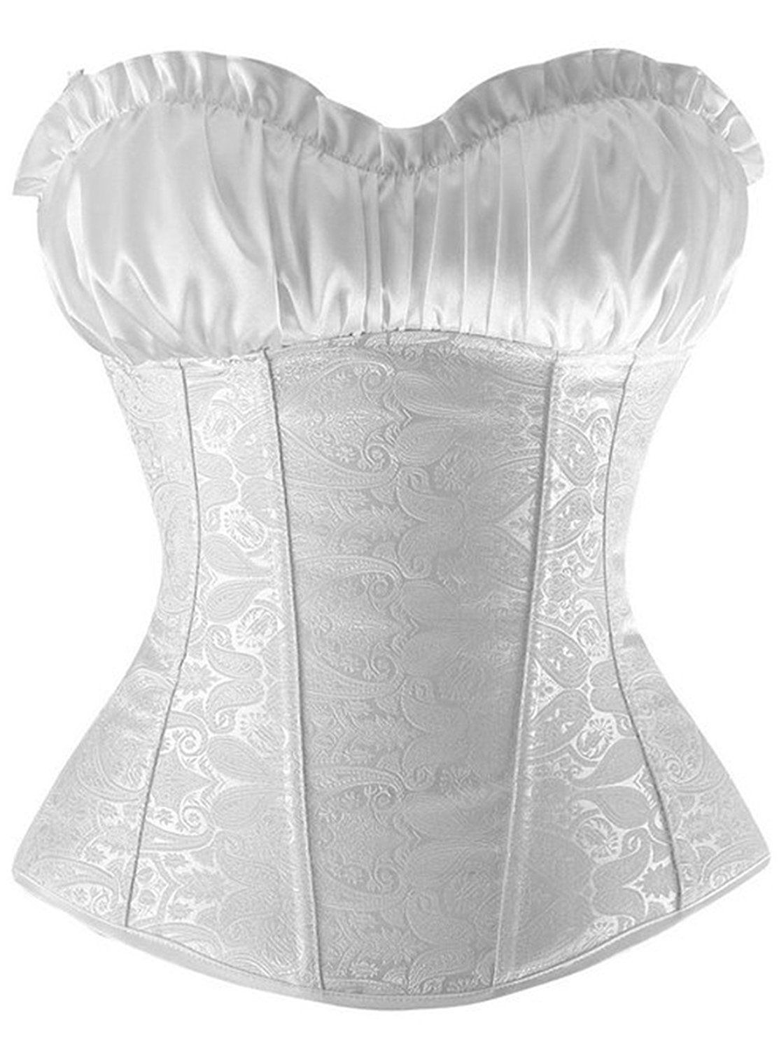 caeef111284 Sexy Women s Burlesque Lvory Overbust Corset Top with Strapless Plus Size      Remarkable product available now.   Plus size lingerie