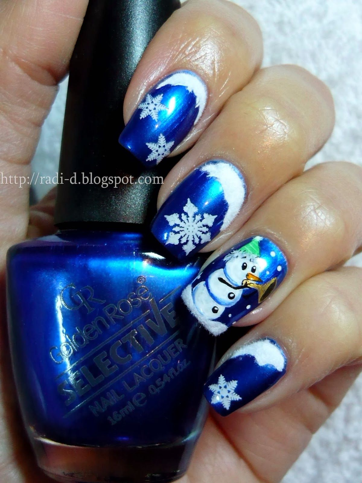 It S All About Nails Blue Christmas Nail Nailart