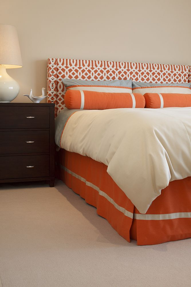 Currently have burnt orange fabric headboard love the - Grey and burnt orange rooms ...