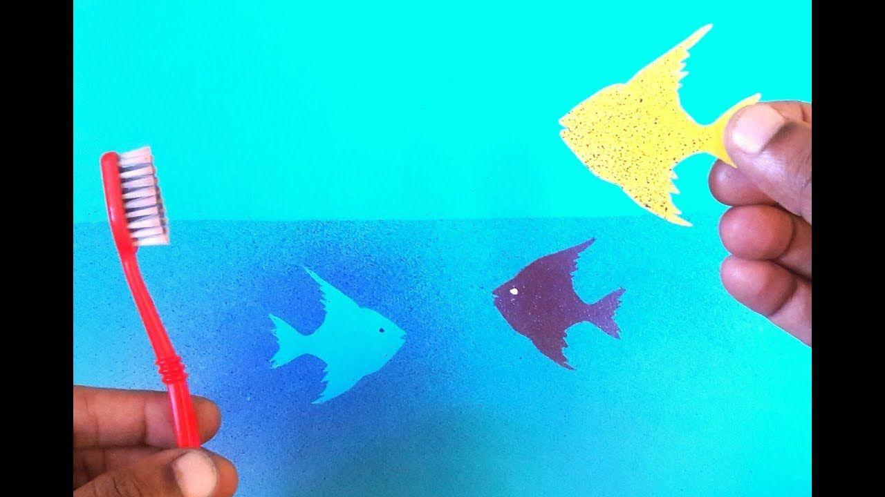 Amazing Tooth Brush Spray Painting Fish Diy Very Easy Fish Painting Spray Painting Fishing Diy