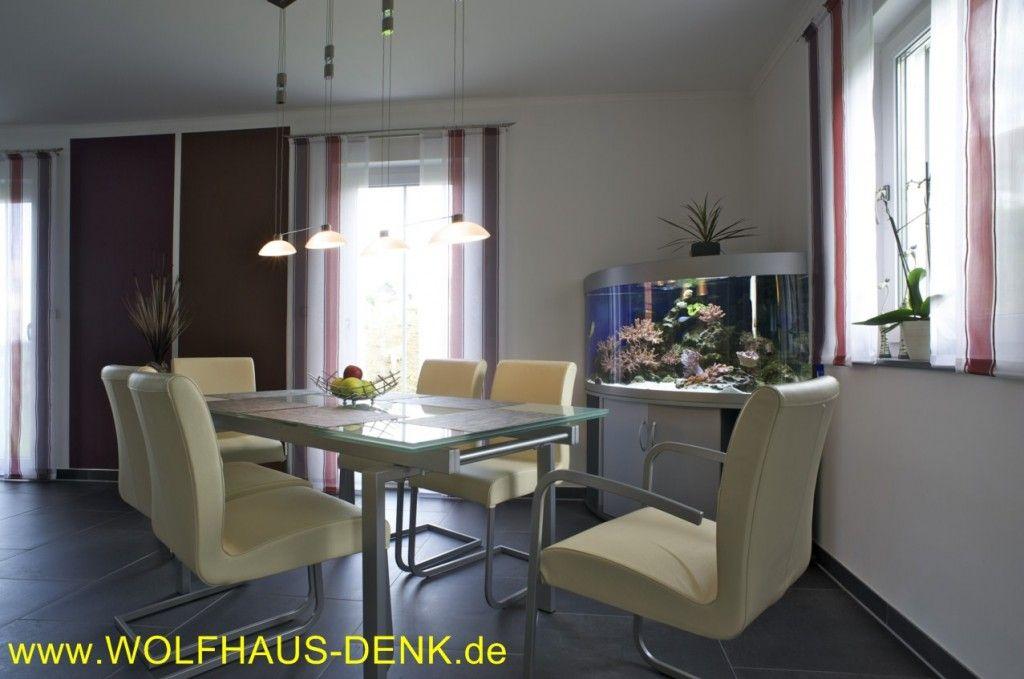 Wolfhaus Denk EFH Essbereich Einfamilienhaus mit Satteldach