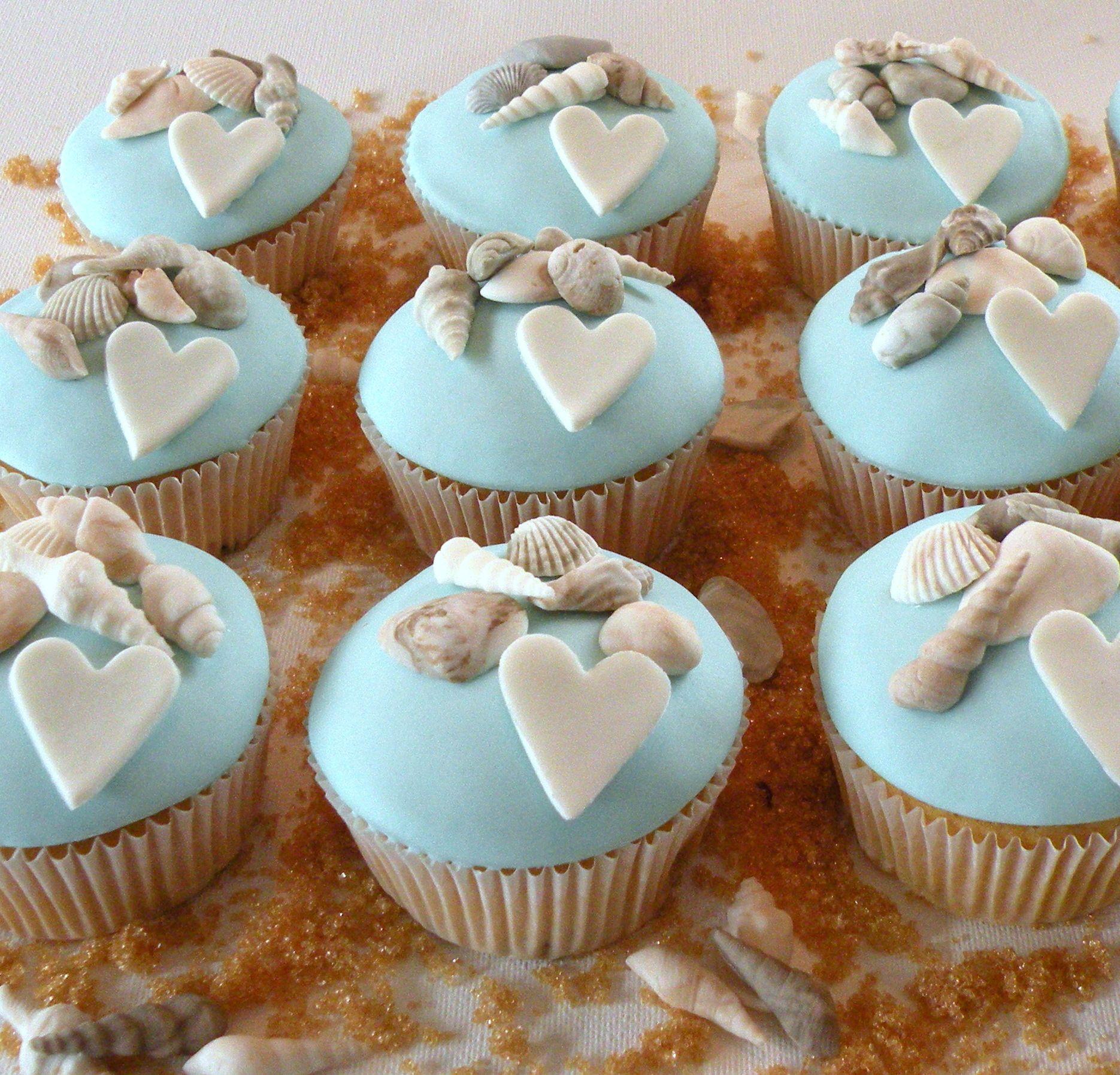 Beach Cupcakes Cakes Pinterest Beach Themed Cupcakes Themed